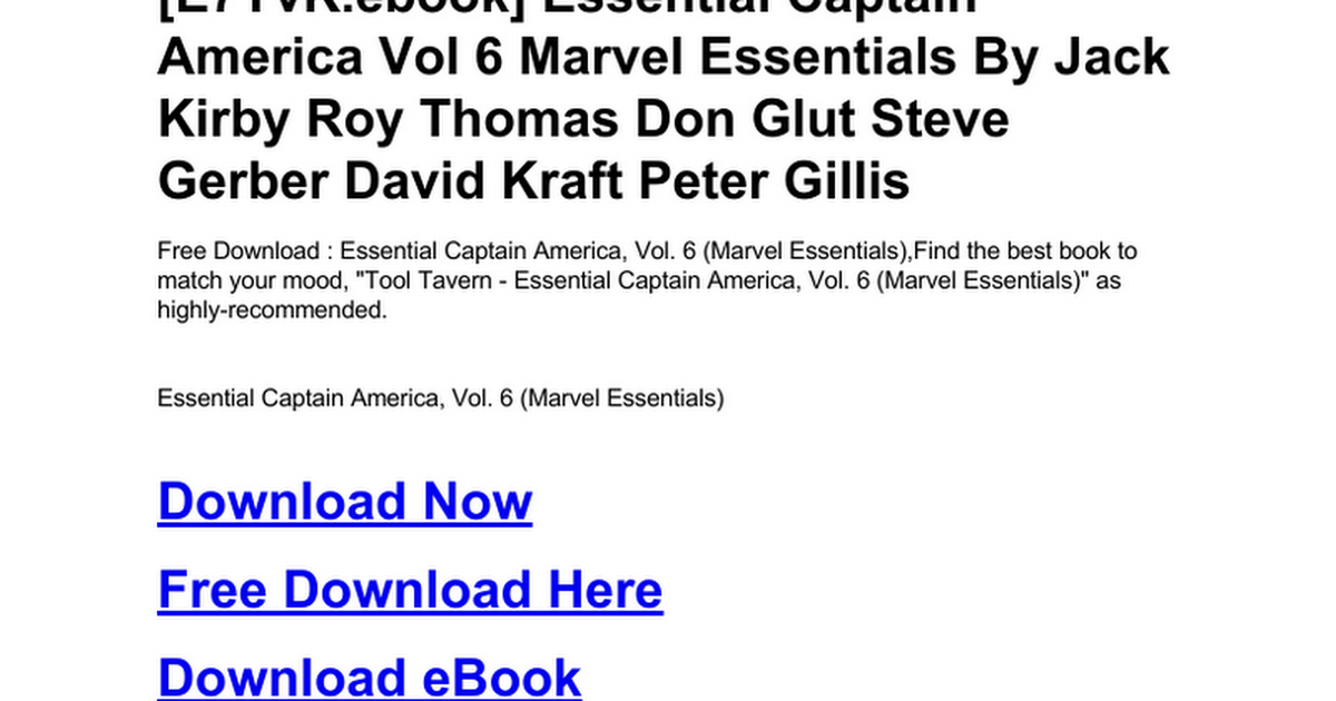 essential-captain-america-vol-6-marvel-essentials.doc - Google Docs