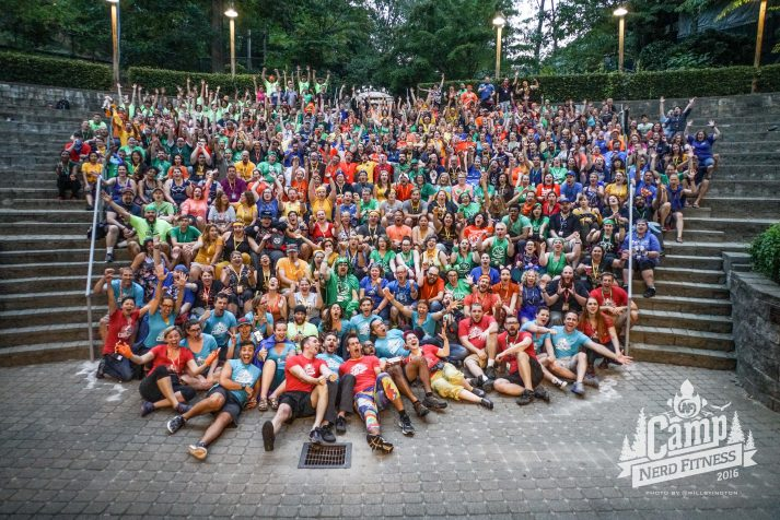 Participants of Camp Nerd Fitness 2015