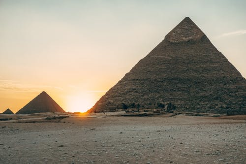 Egyptian Pyramids during Sunset