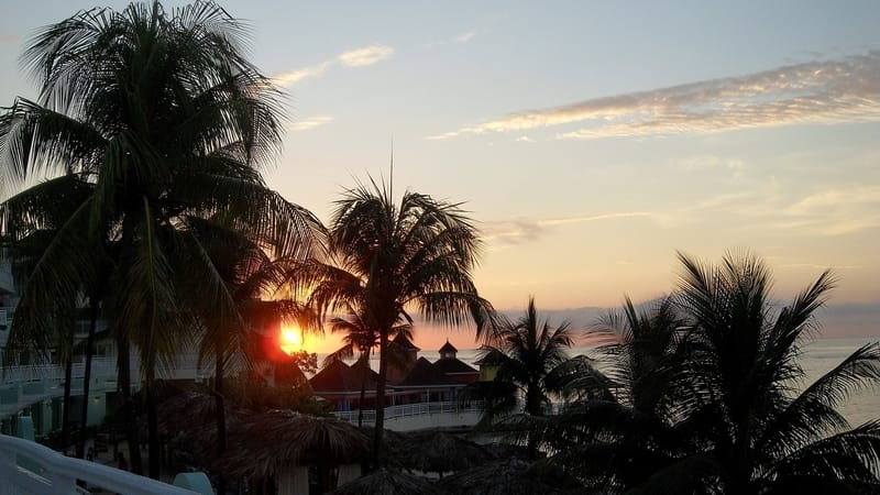 sunset on a resort in montego bay
