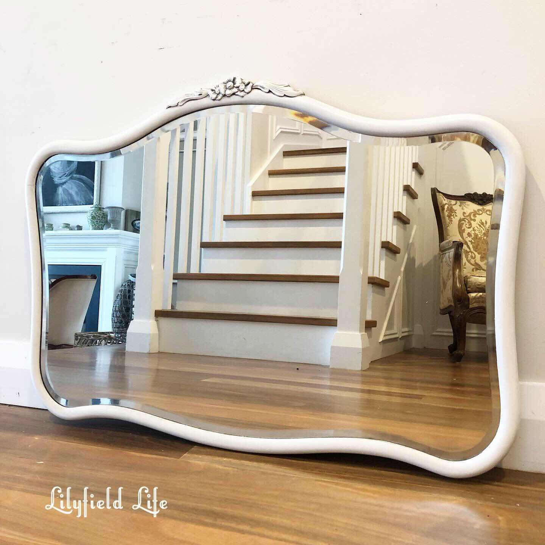 white vintage mirror Lilyfield Life