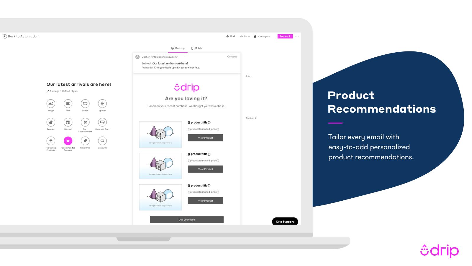 Drip SaaS Email Marketing Tool