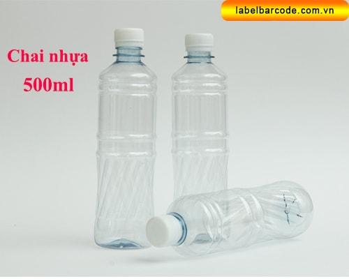 dan nhãn chai nhựa pet 500ml