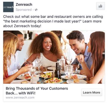 Zenreach Facebook Ad Screenshot