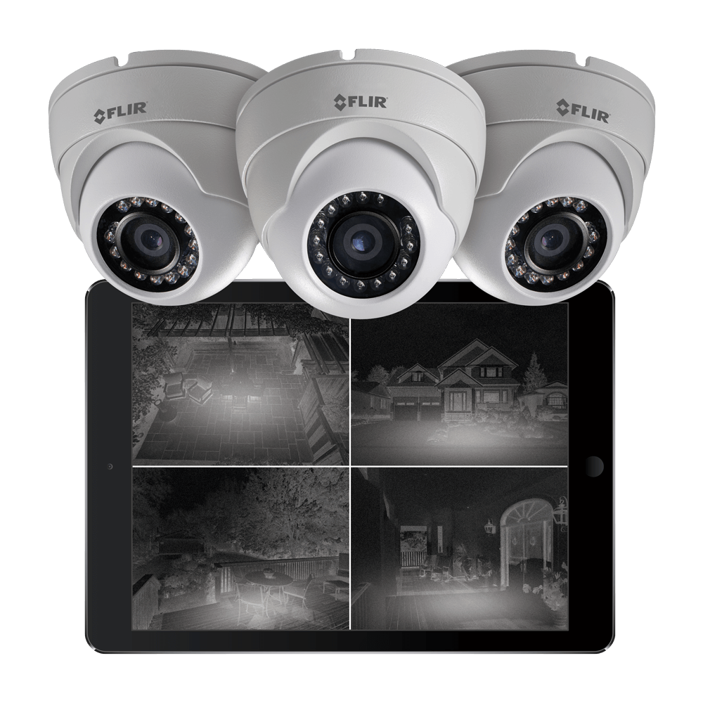 Night vision security cameras stay on guard all night