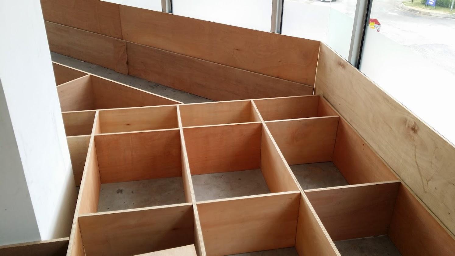 wooden raise platform