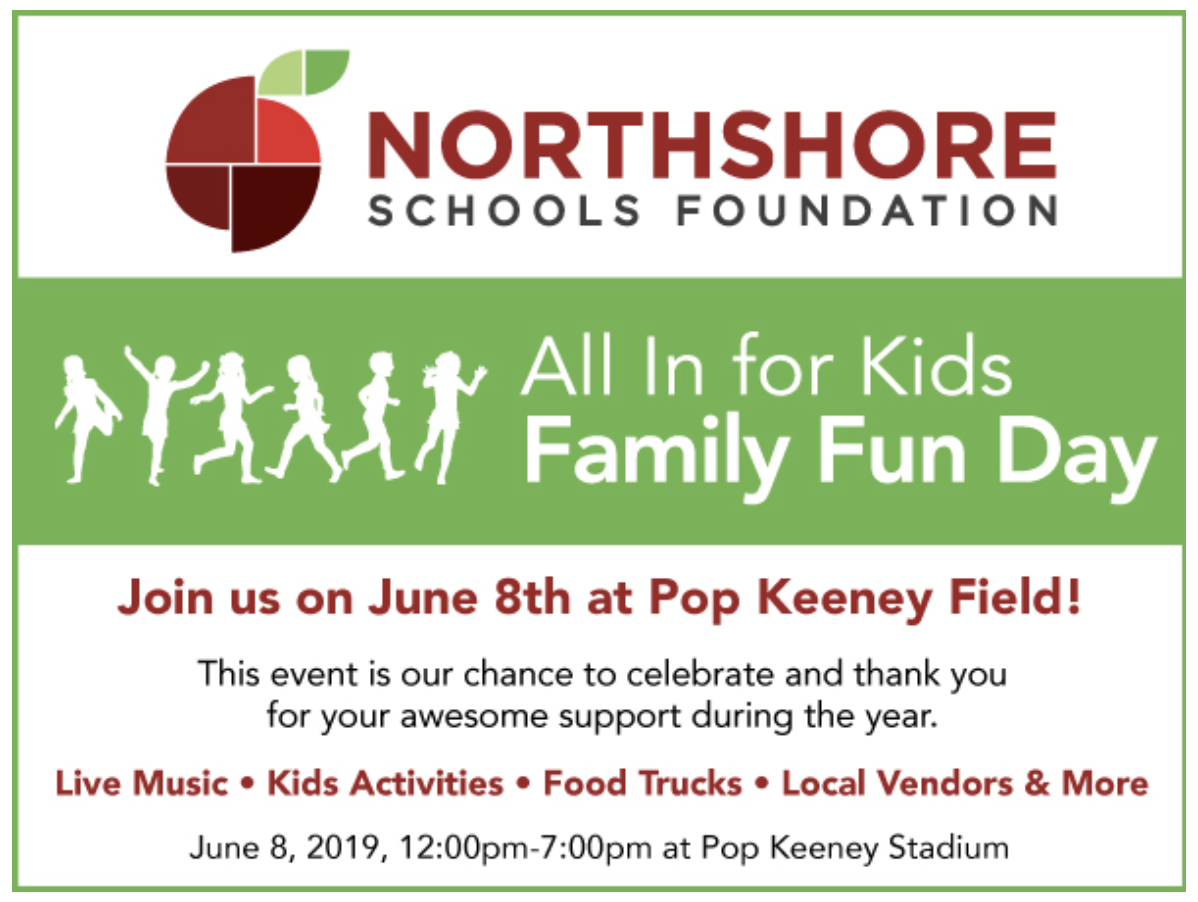 Northshore School Foundation logo and Family Fun Day flyer