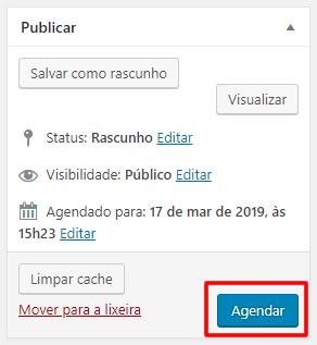 agendamento no WordPress