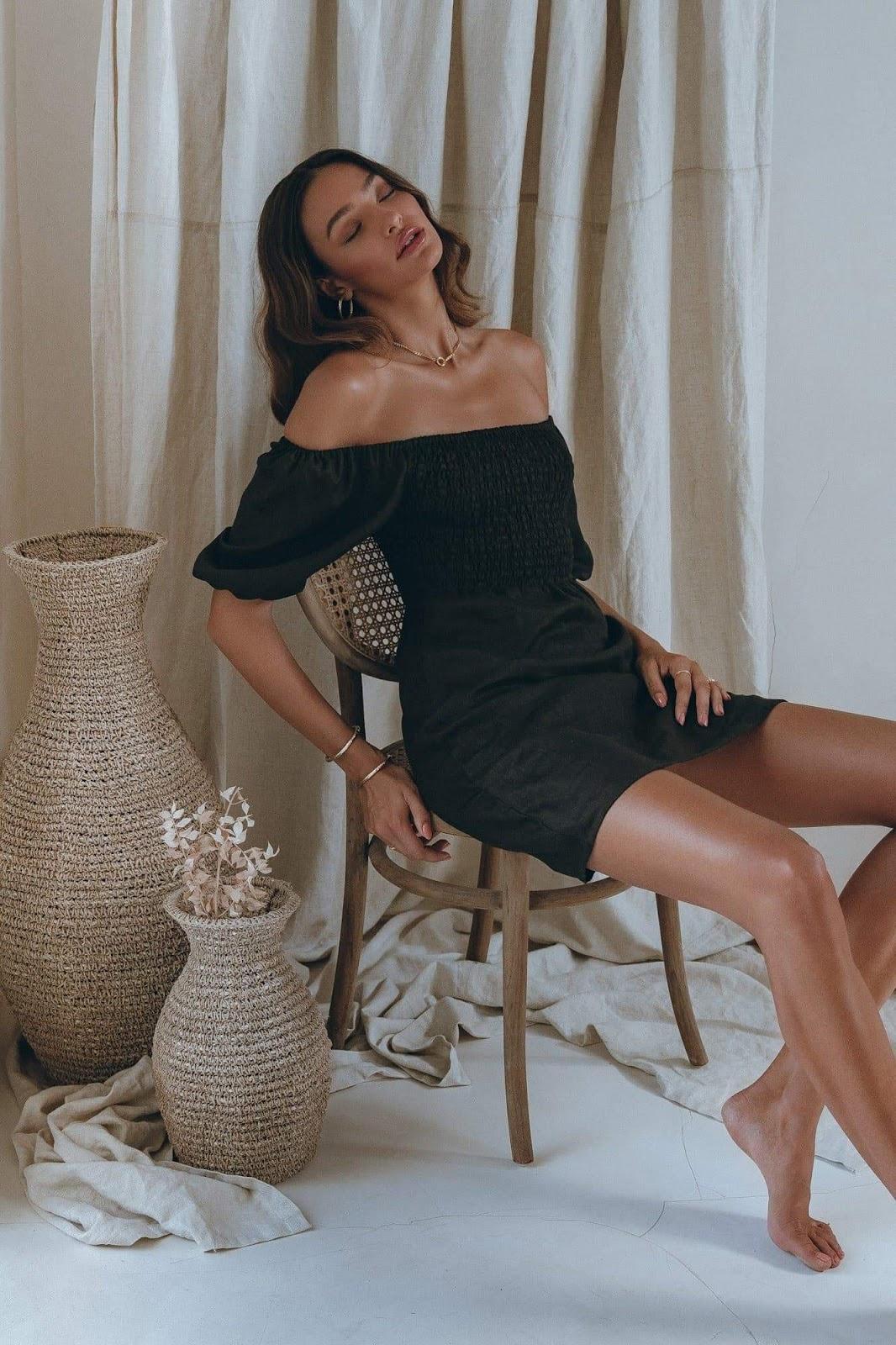 Willow Mini Dress in Black