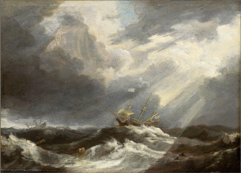 Newton on the Stormy Seas