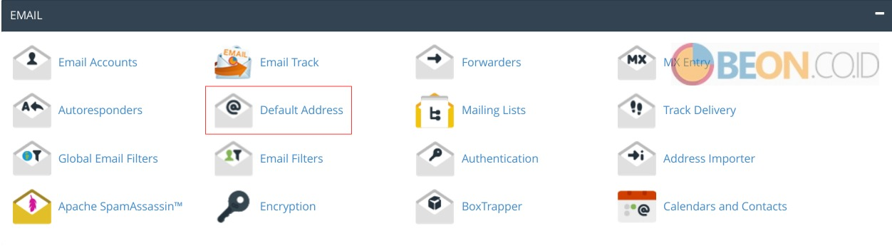 Setting Default Address Pada Email CPanel