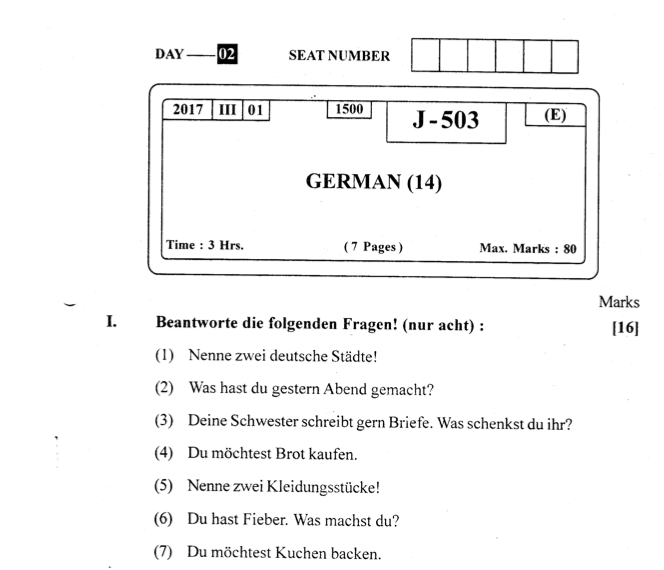 paper in german