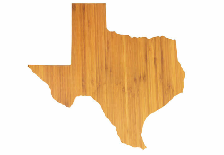 State Shaped Cutting Board - Texas