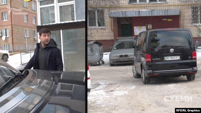 На компанію «Синтез Ойл» був зареєстрований Volkswagen – автівка з охороною, яка супроводжувала Володимира Зеленського під час президентської кампанії
