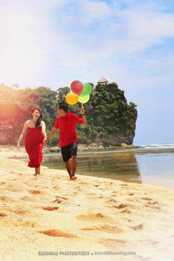 pre wedding di pantai jogja