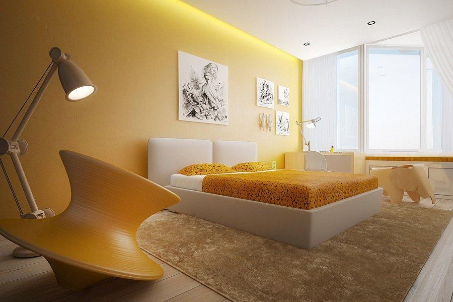 Желтый цвет в интерьере - какие цвета сочетаются с желтой стеной в спальне с точки зрения психологии