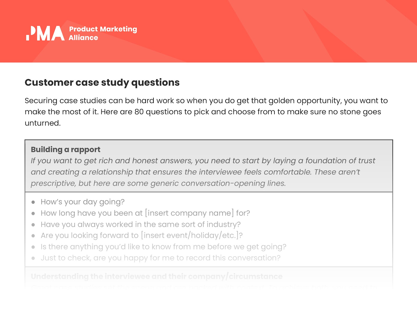 Buy side interview case study