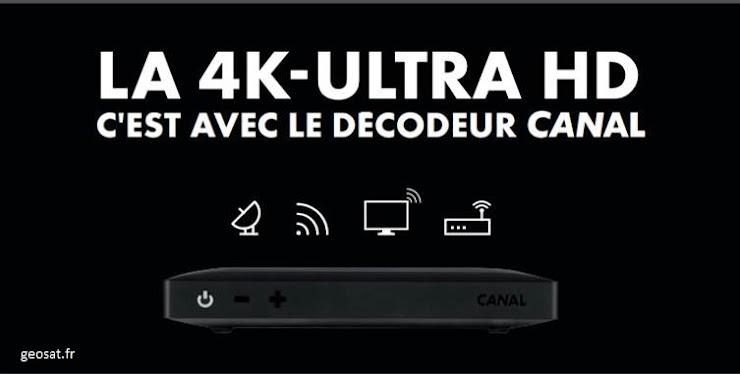 Cochez votre Mode de réception pour la Télévision. Ci-dessus le nouveau décodeur CANAL UHD 4K pour une expérience Cinéma Incroyable, avec jusqu'à 4 enregistrement simultanés possibles ! Venez le découvrir en boutique ! Présentation Ici : https://geosat.info/i/decodeur-canal