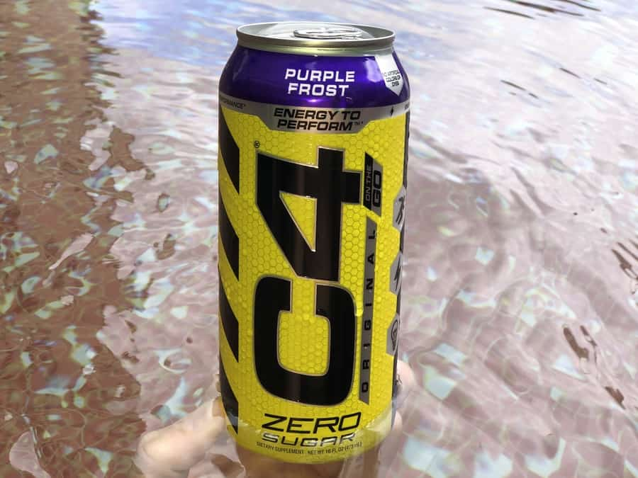 A can of C4 energy drink.