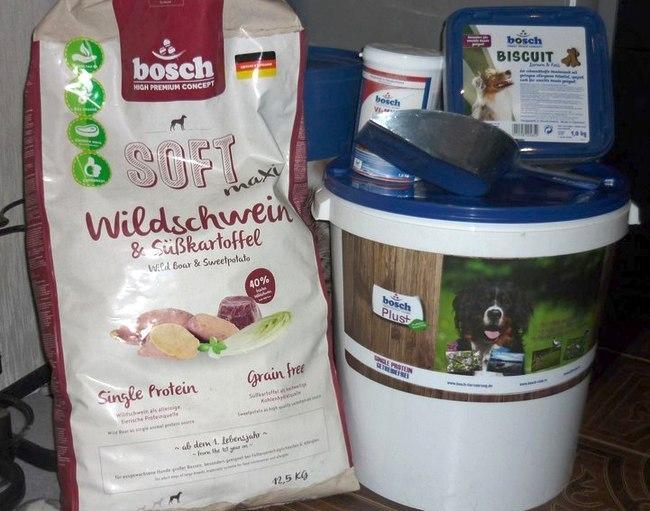 премиальный корм для собак bosch