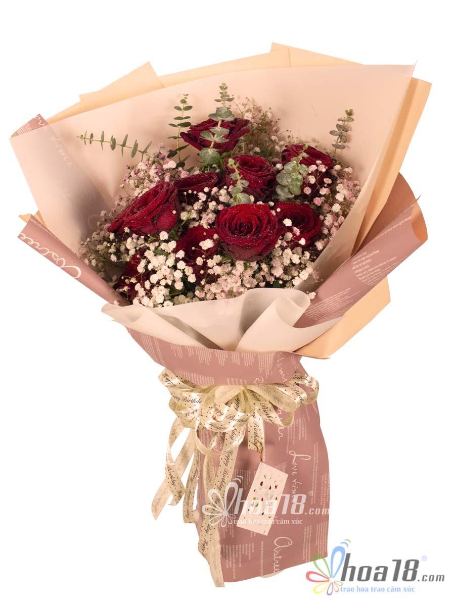 bó hoa hồng tươi đẹp