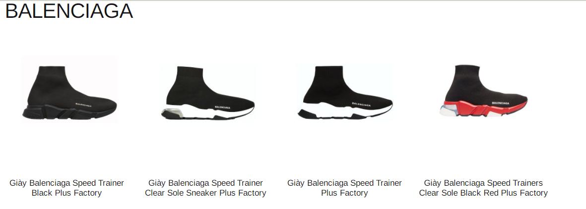 4 mẫu Balenciaga Speed Trainer HOT nhất hiện nay