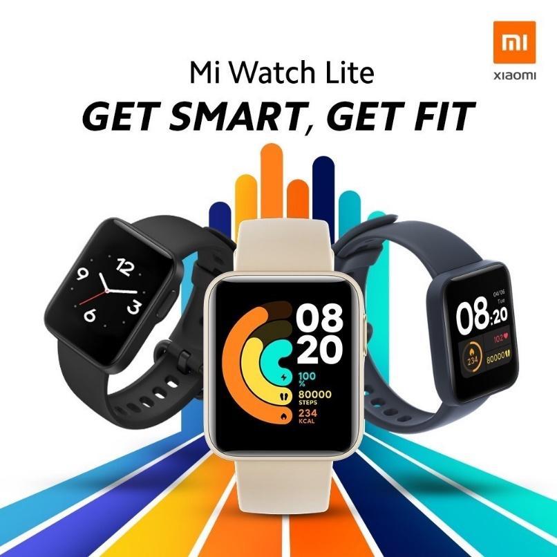 Xiaomi Mi Watch Lite สมาร์ทวอทช์หน้าปัด 35 มม. กันน้ำ 5 ATM ใช้งานต่อเนื่อง  9 วัน | Shopee Thailand
