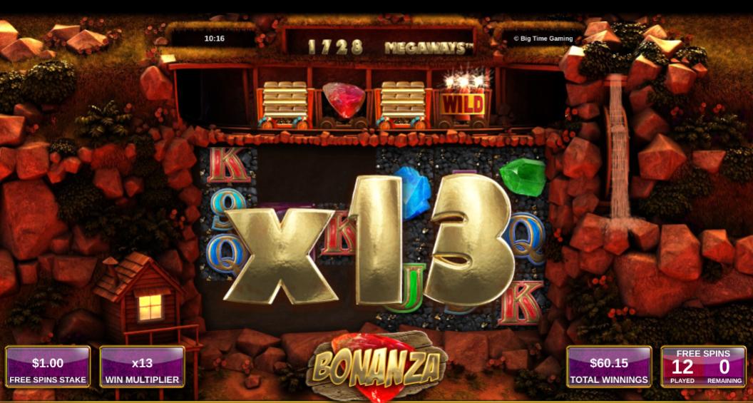 Bonanza Megaways slot