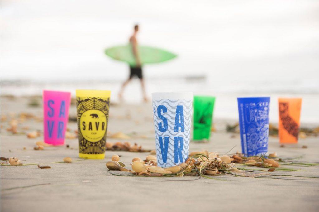 SAVRcups on the beach