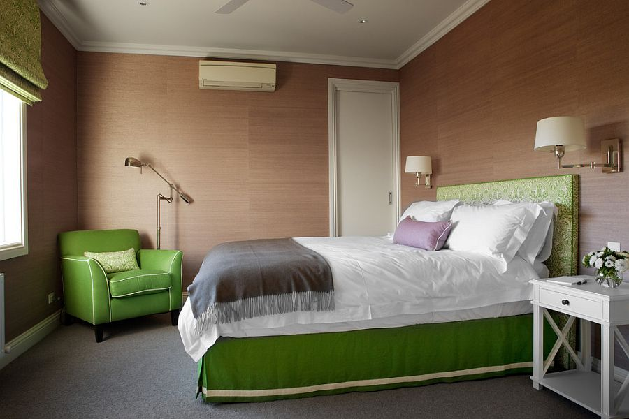 A Green and Brown Bedroom Ideas