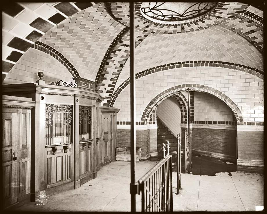 new york city subway station subway tile backsplash