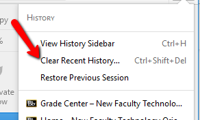 Old Firefox Clear Recent History