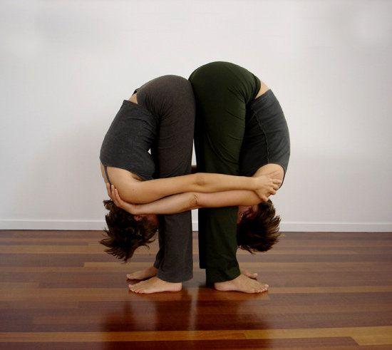 standing forward fold pose