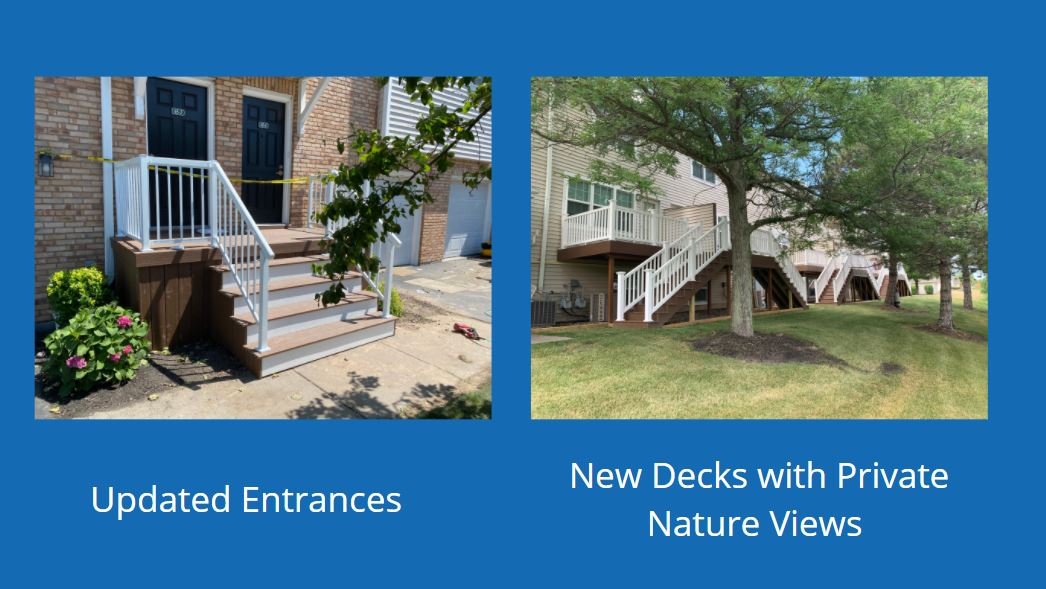 What's New at Windsong Place Apartments? Updated Entrances & Decks!-image