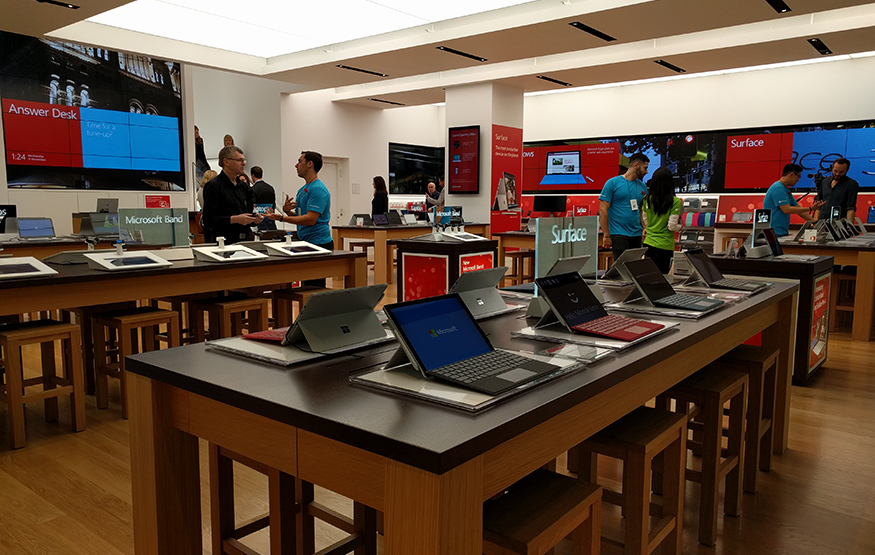 A look inside Sydney's Microsoft Store