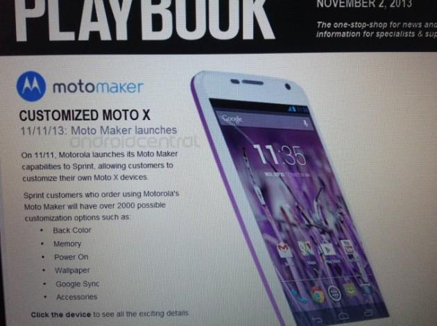 Moto Maker Now Rumored for Sprint on November 11th