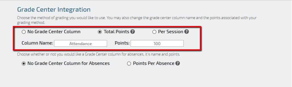 Qwickly Attendance Grade Center Integration