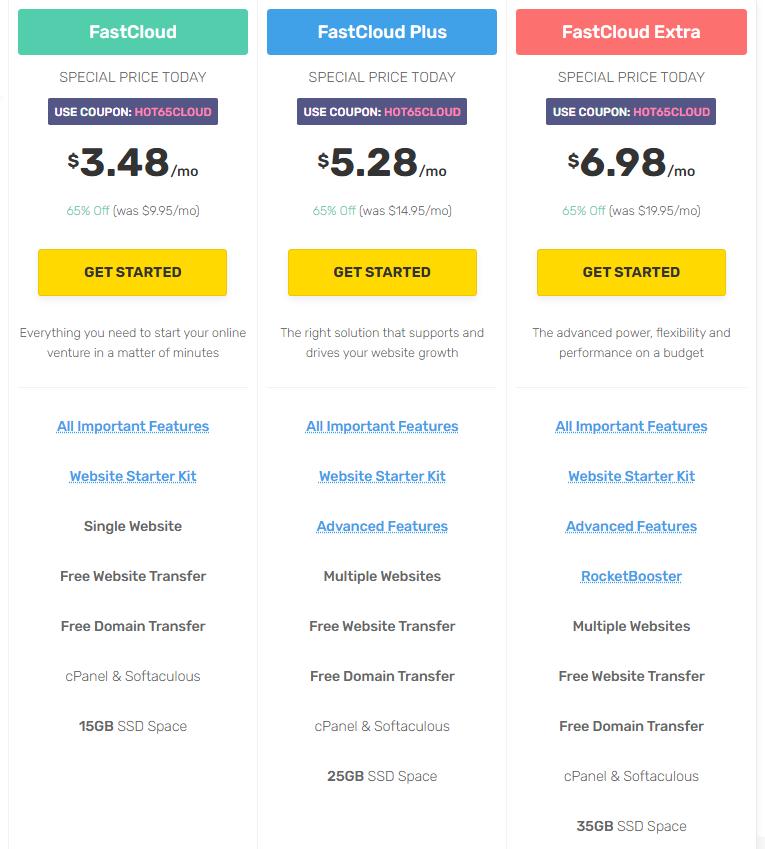 FastComet Hosting plans Best Unlimited Hosting Provider