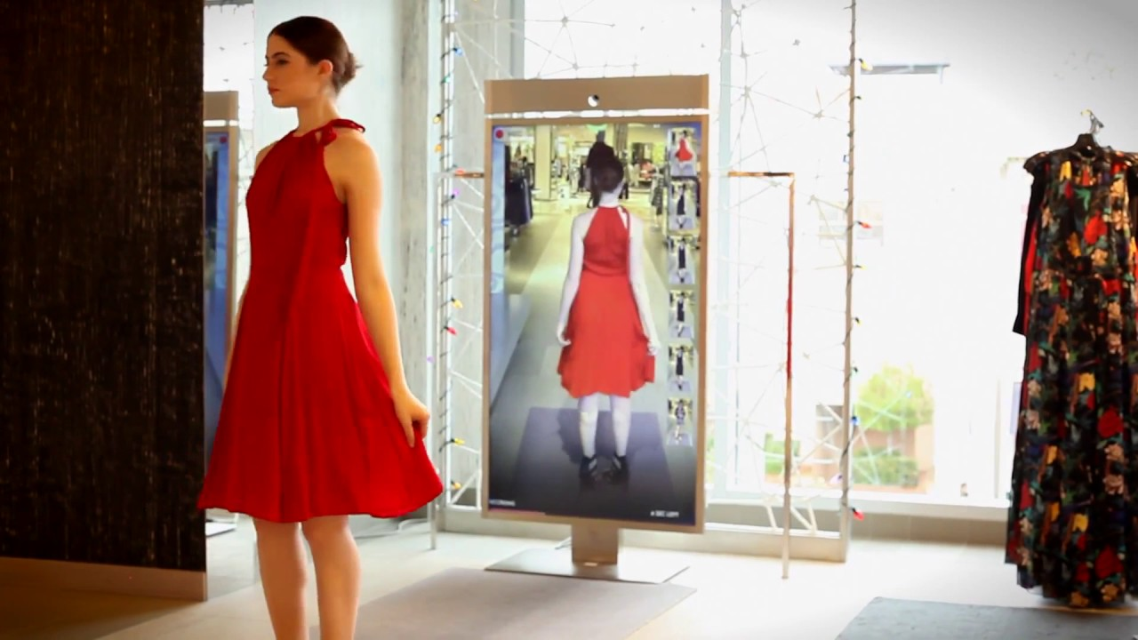 "High-tech ""Memory Mirror"" records and shows outfits from all angles"