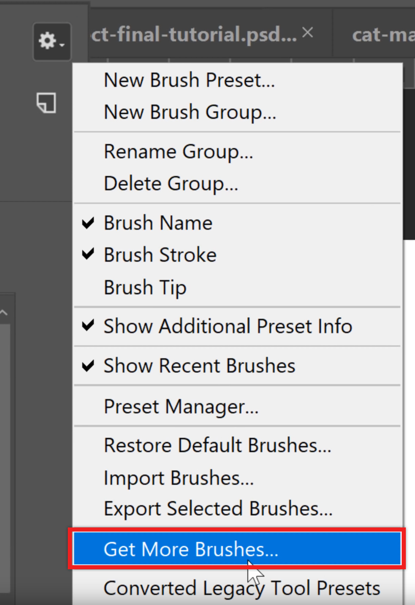 Get More Photoshop Brushes