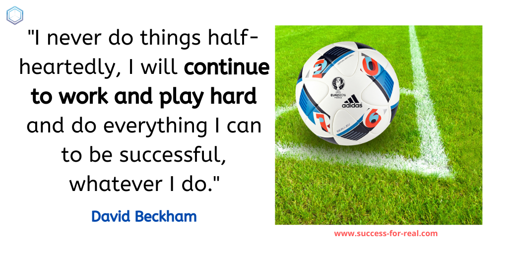 365 Success Quotes For Motivation - Picture Quote By David Beckham