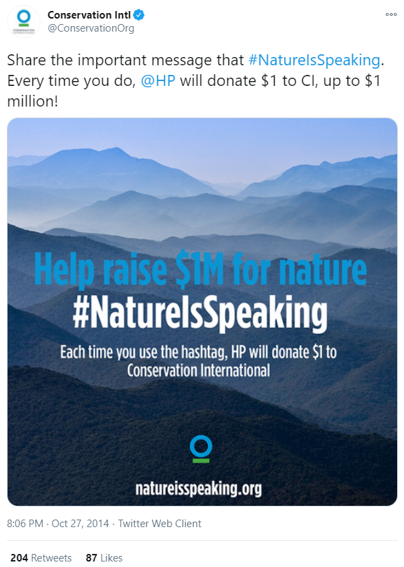 conservation tweet christmas ideas