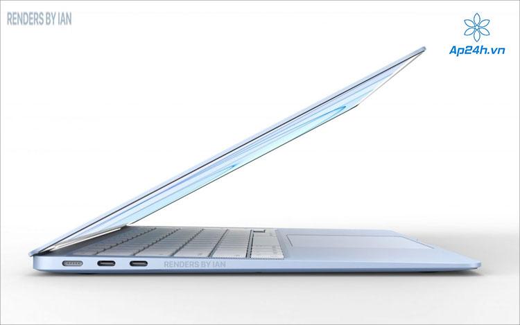 Khung máy của MacBook Air sẽ mỏng nhẹ hơn trước