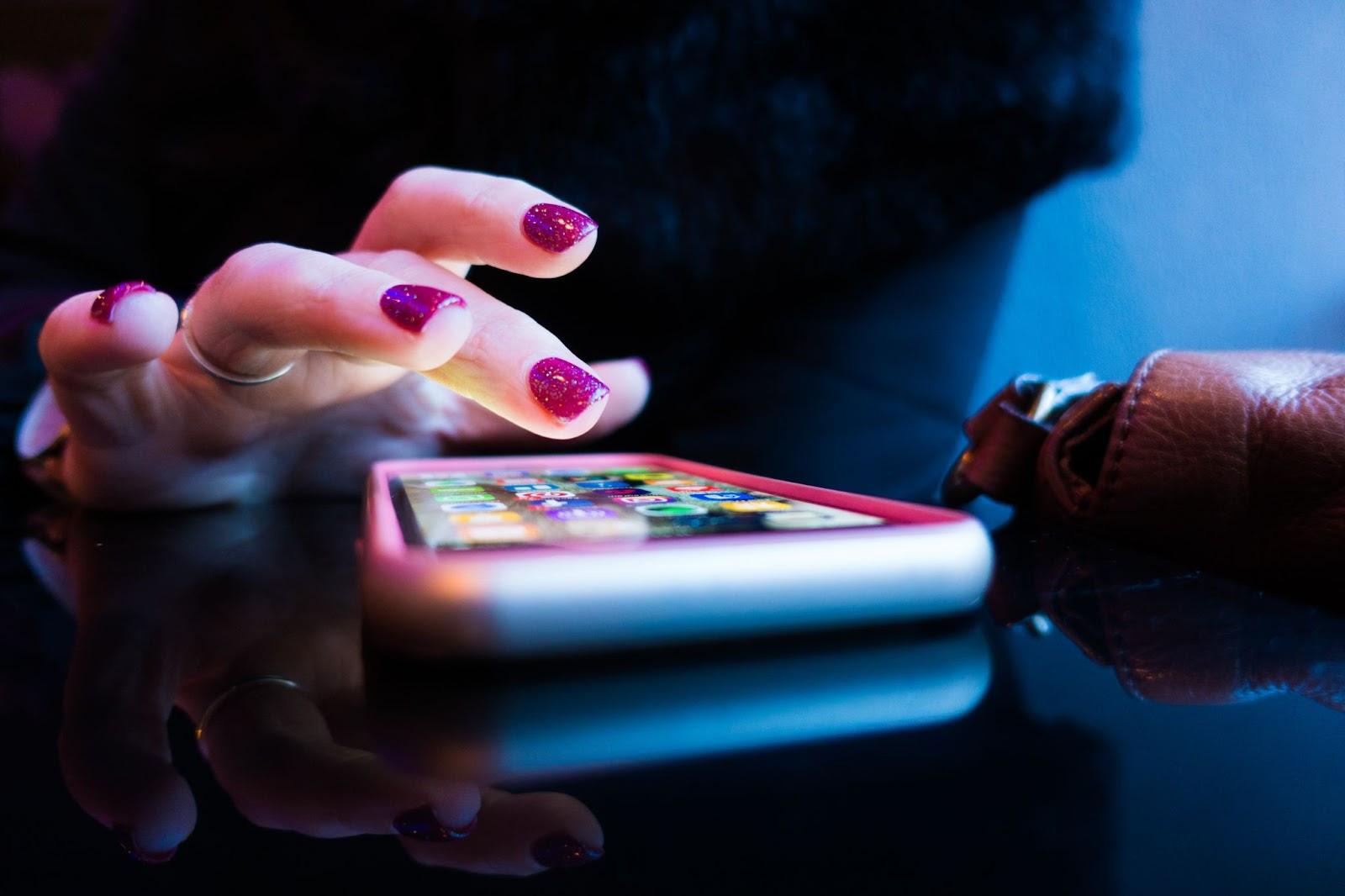touching the phone screen