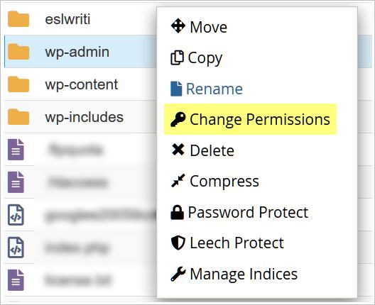 change permissions