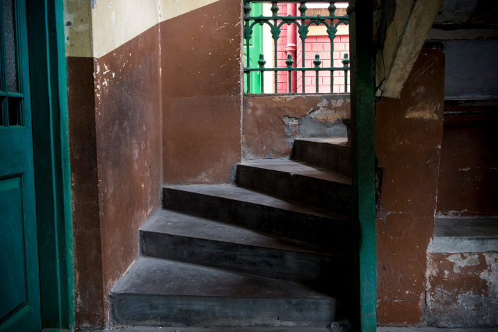 The actual stairs that Mother Teresa would sit upon and distribute medicine from to those in need.