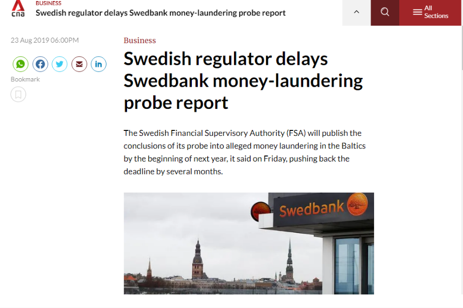 Image of article on FSA, the regulator of Scandinavian Capital Markets