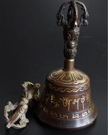 Space Clearing House Cleansing Tibetan Brass Bells