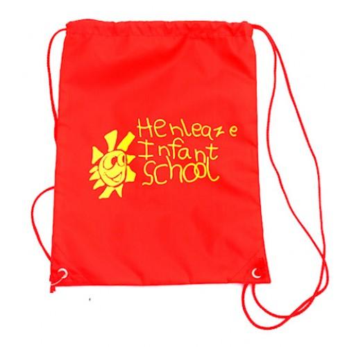 Henleaze Infant Red PE Bag