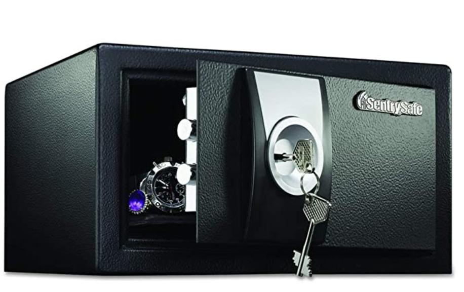 Sentrysafe safe with keys and valuables inside